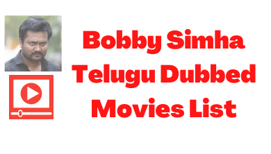 bobby-simha-telugu-movies-list
