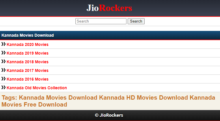 Jio Rockers Kannada Movies 2021 Free Download