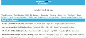 KuttyMovies Download 2021 Tamil Movies